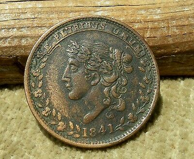 """ca 1841 HARD TIMES TOKEN """"MILLIONS FOR DEFENSE, NOT ONE CENT FOR TRIBUTE"""" BEAUTY"""