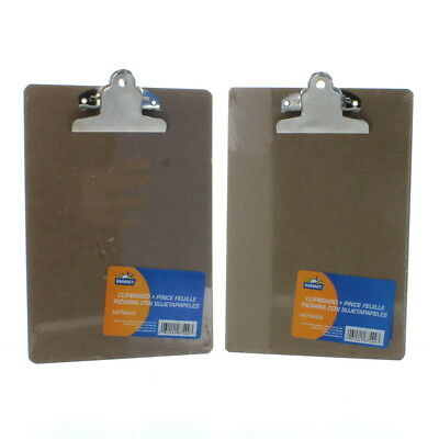 "6"" x 8 3/4"" Hardboard Clipboards Lot of 2 Mini Small Memo Invoice Kamset"