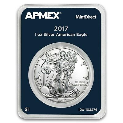 1 oz 999 Silver coin American Eagle 2017 in Mint Direct Slap with Serial number