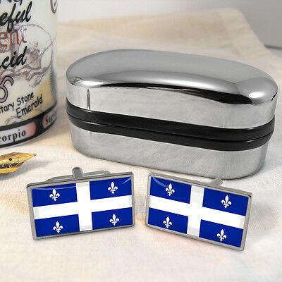 Quebec Flag Cufflinks & Box