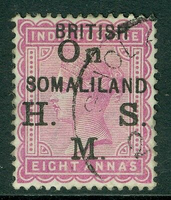 SG 04 Somaliland 8a dull mauve official, Very fine used CAT £475