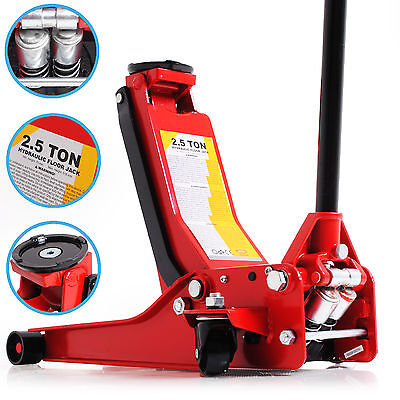 2.5 Ton Low Profile Twin Piston 2500Kg Hydraulic Garage Car Van Diy Trolley Jack