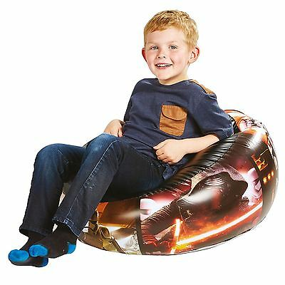 Star Wars Junior Inflatable Chair Comfortable Kids Boys Childrens Free P+P