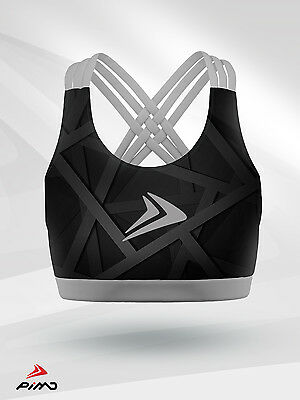 PIMD Women Vest With Hood Black// White Cotton Gym Fitness Leisure Top Workout