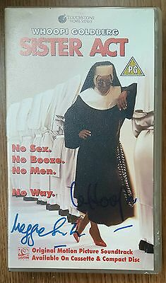 Maggie Smith & Whoopi Goldberg - Sister Act - Signed VHS - UK - Very Rare + COA