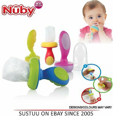 Nuby Garden Fresh Baby Easy Grip and Squeez Feeding Toddler Nibbler & Cover 10m+
