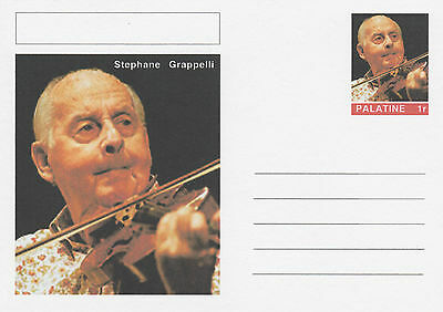 CINDERELLA - 4629 - STEPHANE GRAPPELLI  on Fantasy Postal Stationery card