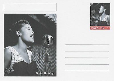 CINDERELLA - 4635 - BILLIE HOLIDAY  on Fantasy Postal Stationery card