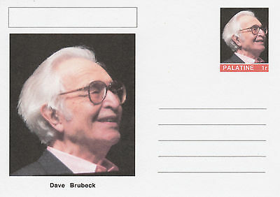 CINDERELLA - 4645 - DAVE BRUBECK  on Fantasy Postal Stationery card
