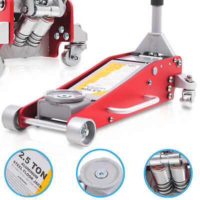 2.5 TON 2500kg ALLOY LOW PROFILE HYDRAULIC RACE VEHICLE TROLLEY LIFTING JACK