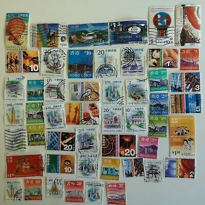 100 Different Hong Kong Stamp Collection - China region only