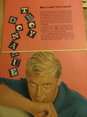 Troy Donahue, Four Page Vintage Clipping