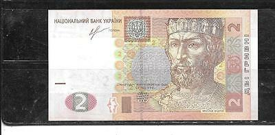 UKRAINE #117d UNC 2013  NEW 2 HRYVNIA CURRENCY PAPER MONEY BANKNOTE NOTE BILL