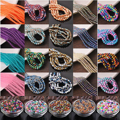 Bulk Crystal Glass Round Faceted Charms Loose Spacer Beads 4mm 6mm 8mm 10mm 12mm