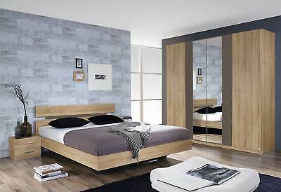 Rauch 'Almada' Range German Made Bedroom Furniture. Sonoma Oak & Lava Trim