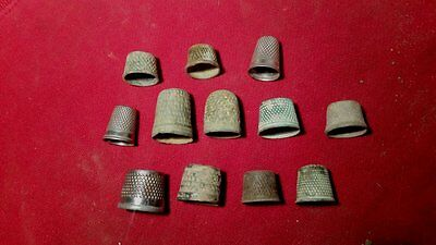 Group Of Thimbles Found Metal Detecting - Some Very Old Beehive