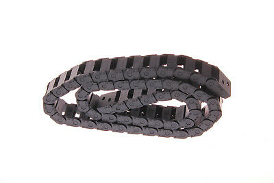 Black Long 1M 1000mm Nylon 10x20mm Cable Drag Chain Wire Carrier