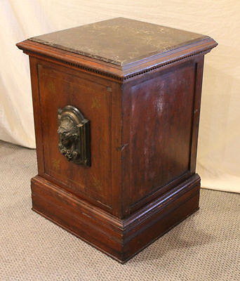 Marvin Iron Safe Company – Rare Victorian Antique concealed Iron Safe – 1882