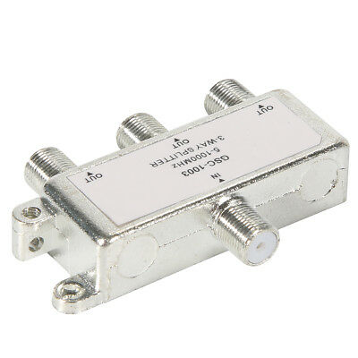 3 Way 5-1000 MHz Signal Aerial Coaxial F Splitter Cable TV Switch New BI127