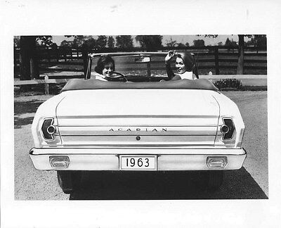 1962 Acadian Beaumont Convertible Rear ORIGINAL Factory Photo oub5404