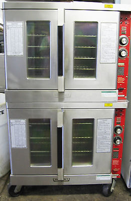 Hobart Double Stack Convection Oven 2 Natural Gas Cook Heat and Hold Ovens