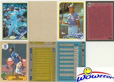 Rare Lot of (11) Different Topps Bo Jackson ERROR CARDS from 1987-1992!
