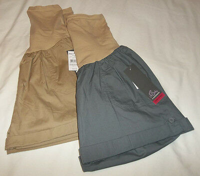 OH BABY Lightweight Tab/Cuffed CASUAL SHORTS Sz MEDIUM - LARGE Khaki or Gray