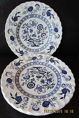 "J&G Meakin English Ironstone BLUE NORDIC  Blue Onion (6) 6 7/8"" Plates"