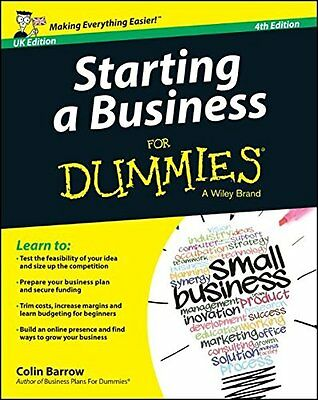 Starting a Business For Dummies[UK Edition] New Paperback Book Colin Barrow
