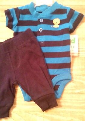 Carters child of mine two piece outfit preemie nwt