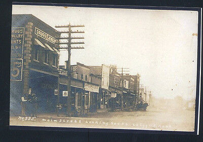 Real Photo La Cygne Kansas Downtown Main Street Scene Lacygne Postcard Copy