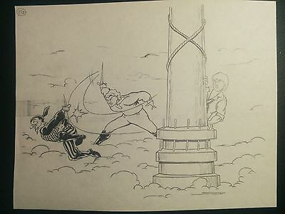 Disney's Cruise Line VOYAGE OF THE GHOST SHIP Hand Drawn Art by Mark Simon #MS9