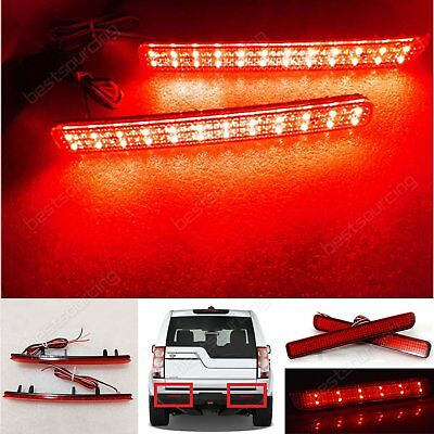 2x LED Rear Bumper Reflector Rover Discovery 3 & 4 Sport L320 Brake Stop Lights
