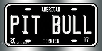 American Pit Bull Terrier Dog Breed License Plate  Red Blue Green Yellow Black