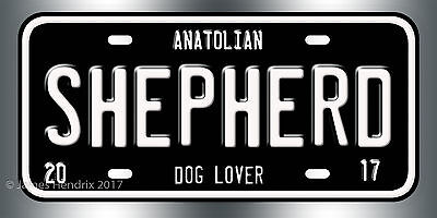 Anatolian Shepherd Dog Breed License Plate  Red Blue Green Yellow Black