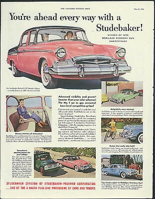 You're ahead every way with a Studebaker ad 1955 Post