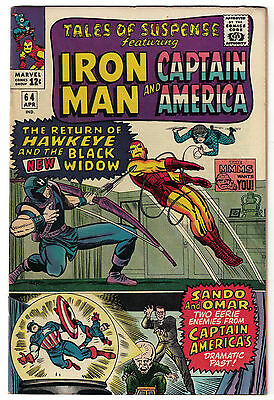 Marvel Comics TALES OF SUSPENSE Issue 64 Iron Man And Captain America! FN+