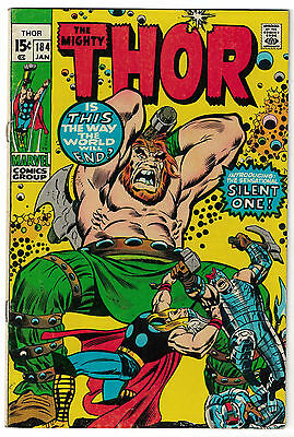 Marvel Comics THE MIGHTY THOR Issue 184 Introducing The Silent One! VG/F