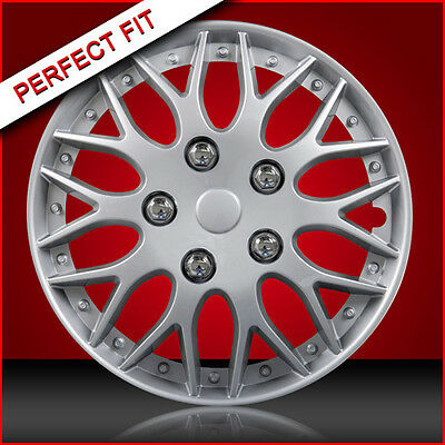 """14"""" Alloy Look Wheel Trims/Hub Caps/Wheel Covers To Fit Vauxhall Corsa 00-ON"""