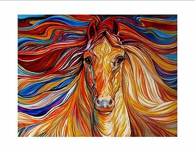 AA3 - Printed Fabric Cushion Insert Panel Patchwork Art - Abstract Brown Horse