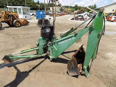 """John Deere 8A Backhoe Attachment For Tractors, Outriggers, 24"""" Bucket,  S#62811"""