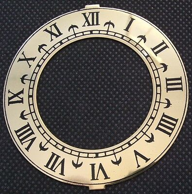 CLOCK PARTS *** CHAPTER RING *** BRASS *** 76mm DIAMETER ***