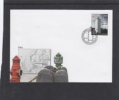 Latvia 2016 Lighthouses First Day Cover FDC Riga pictorial h/s