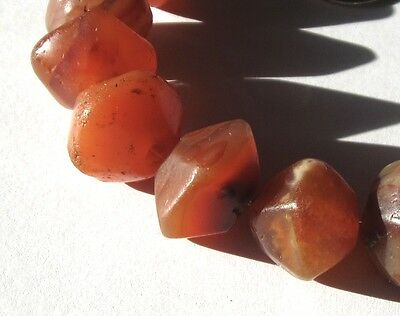 9 Rare Stunning Ancient Graduated Banded Carnelian Agate Eye Mali Beads