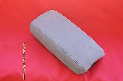 06-11 Honda Civic Sliding Armrest Center Console Lid Cover Gry Fabric/ Suade