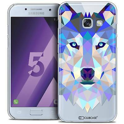 Coque Housse Etui Samsung Galaxy A5 2017 (A520) Polygon Animal Rigide Fin Loup