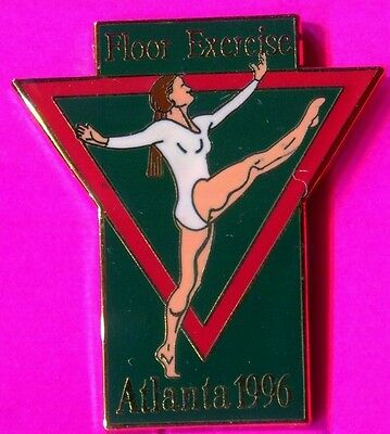 1996 Olympic Gymnastics Pin Floor Exercise Pin Flat Enamel Pin