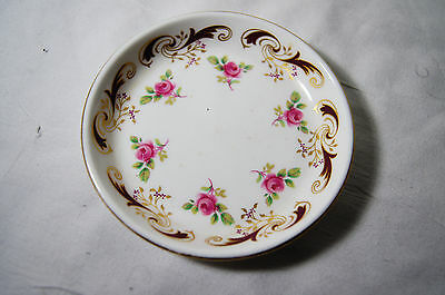 Wentworth Fine Bone China Crown Staffordshire England Small Dish With Floral Pat