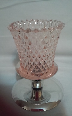 2 Home Interiors Homco Pink Diamond Votive Candle Sconce Cups w Grommets