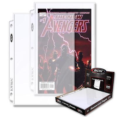 10 sheets of BCW Pro 1 Pocket Acid Free Comic Book Pages to fit Album binder